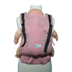 Marsupiu Ergonomic Elna Baby Wrap Conversion Bumbac Organic Roz
