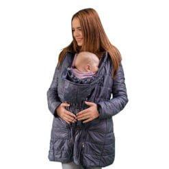 Geaca Babywearing 3 in 1 ELNA Albastru