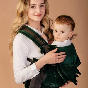 Marsupiu Ergonomic ELNA Irish Green Velvet