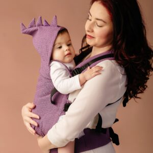 Marsupiu Ergonomic ELNA   Wrap Conversion Waffle Queen's Purple